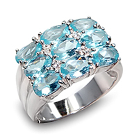 Sterling Silver and Aqua, simply stunning