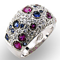 multi colored CZ pave Sterling Silver $100