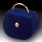 cute purse ring box, pink,green,black,red and blue
