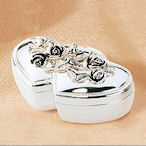 Silver Plated Double Heart Ring Box