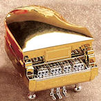 Gold Piano ring or earring box
