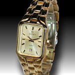 Mens Elgin  elegant stylish golld tone with date and water resistant $55