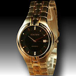 Mens Elgin 4 diamond gold tone water resistant $50
