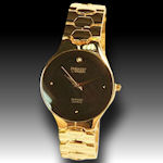 Embassy by Gruen 4 diamond, gold tone elegant watch $65