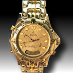 Elgin water resistant and date gold tone 445