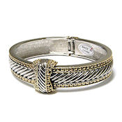 David Yurman style two tone gold bracelet sculptured cable so elegant