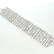 Rhinestone 9 rows Austrian crystals well made with metal clasp