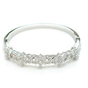 Just beautiful rhinstone and crystal bangle clasp 10mm wide designer style