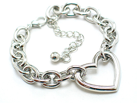 Designer metal link 25mm heart $25