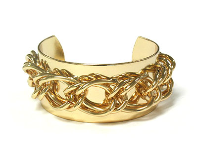 Gold layered chain cuff
