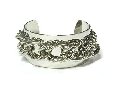 Rhodium chain cuff