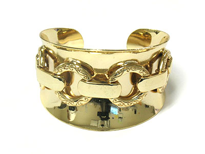Wide gold layered metal cuff $25