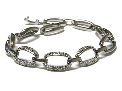 Rhodium and crystal bracelet ON ORDER $35