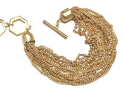 gold multi chain 7.5in