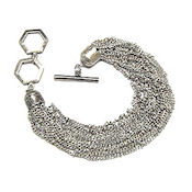 Rhodium multi chain link 7,5in