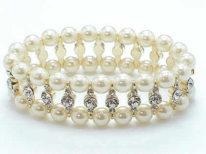 Pearl and Austrian crystal beautiful and classy bracelet