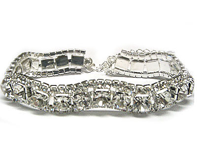 Silver and rhinestone 6.5inch with extension on order $80
