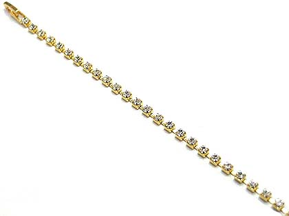 Austrian crystal single row in gold on sale $15