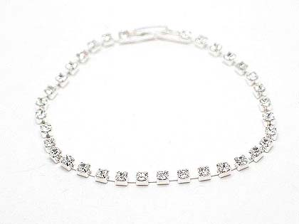 Austrian crystal single row with delicate spacing of each stone with clasp $20