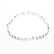 Austrian crystal single row with delicate spacing of each stone with clasp