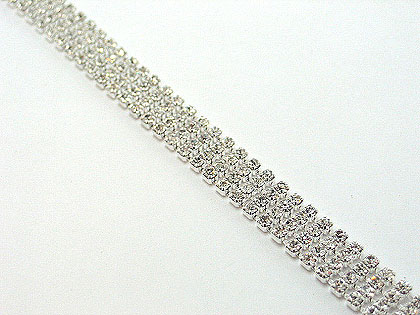 This delicate 4 row clasp fine rhinestone link bracelet is yours for only $55