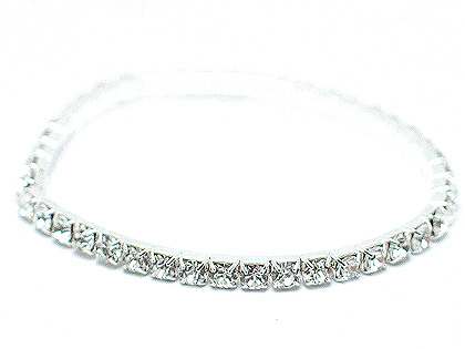 Fashion of the Austrian crystal and rhinestone bangles are designed after this piece, stretch $25