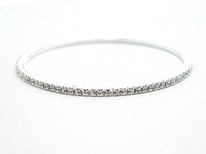 This elegant single Austrian crystal bangle is  being sold for over $80 it's your from Darenot for only $35