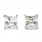 Beautiful squared 8.50ctw in 5.5g sterling silver post earrings