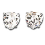 Heart 13.92ctw post earrings in Sterling silver