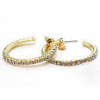 Gold 33mm Diameter with Rhinestone hoop single row