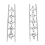 Simple yet so elegant solid Sterling Silver with 5.20ct clear cz's earrings