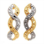 10k Two tone solid gold, these petite earrings do not need to be big to make the statement they make