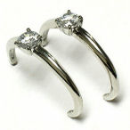 Big and beautiful Describes these rhodium with clear cz's earrings