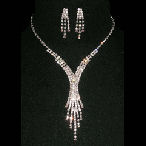 Very fine Twist and dangle necklace set just wow