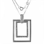 Cute Square sterling silver 6.6gr 18 inch necklace