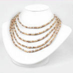 Beautiful Genuine pearl 4.5-5.0mm pearls 450.00ct and this is a 100 inch necklace