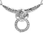 Beautiful Solid Sterling Silver necklace 16inch with 12grams silver and .80ct cz. very nice