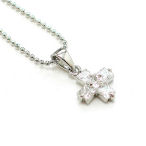 European design delicate just under 1 inch of AAA CZ's with ball chain