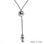 Sterling silver necklace made in Italy 17in