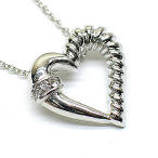 18in heart Rhodium and silver