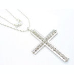 16in Cross with Austrian crystals just over 2 inch long cross