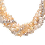 In Style with this breathtaking Citrine and freshwater pearl 110gr 19 inch necklace