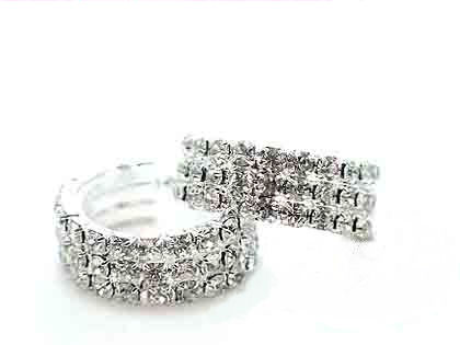 Austrian crystal and rhinestone 3 rows 35mm wide these are beauties