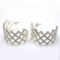 Austrian crystal rhinestone 35mm 1 and half inch and 1 inch thick  earring