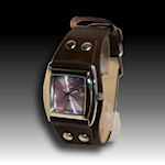 Genuine leather Brown mens watch $30