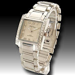 Elegant men's Mark Niemer watch with CZ's,  clasp band $45