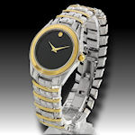 Men's two tone elegant clasp band watch this is a watch with NO NAME! go  ahead, YOU describe it! $30