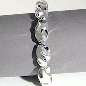 7937 $68 Solid Sterling Silver molded so perfect 8.5inL toggle clasp 19.6gr