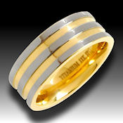 18K Ti gold Titanium stunning ring . This ring is a winner