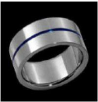 Titanium ring very unassuming yet with that touch of class $200